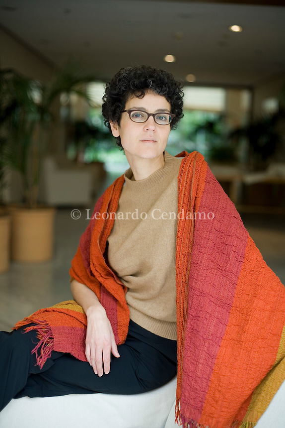 Turin, Italy, 2006. Lilia Zaouali, Tunisian writer.