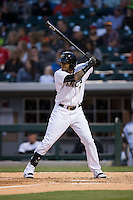 Engel Beltre (7) of the Charlotte Knights at bat against the Scranton\Wilkes-Barre RailRiders at BB&T BallPark on May 1, 2015 in Charlotte, North Carolina.  The RailRiders defeated the Knights 5-4.  (Brian Westerholt/Four Seam Images)