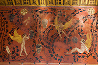 Europe/France/Provence-Alpes-Côte d'Azur/06/Alpes-Maritimes/ Beaulieu-sur-Mer: La Villa Grecque Kérylos- Détail des Fresques