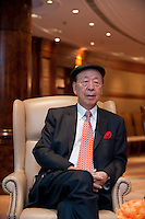 Hong Kong, November 5, 2010, Dr. Lui Che-woo, Chairman K.Wah Group and Galaxy Entertainment.      Photo Kees Metselaar