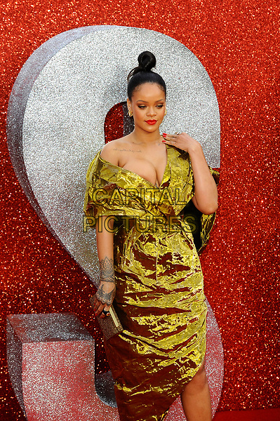 LONDON, ENGLAND - JUNE 13: Rihanna attending 'Ocean's 8' UK Premiere at Cineworld, Leicester Square on June 13, 2018 in London, England.<br /> CAP/MAR<br /> &copy;MAR/Capital Pictures