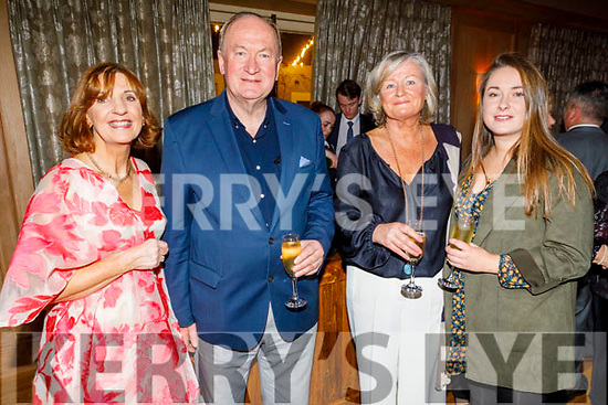 Rosemary Broderick, Cllr Jim Finucane (Mayor of Tralee), Sheila and Orla Finucane enjoying  the Kerry Supporters Social in the Ballygarry House Hotel on Saturday.