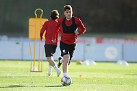 Daniel James of Wales in action during the Wales Training Session at The Vale Resort in Cardiff, Wales, UK. Monday 12 November 2018