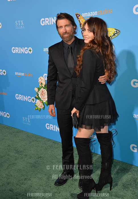 Sharlto Copley &amp; Tanit Phoenix at the world premiere for &quot;Gringo&quot; at the L.A. Live Regal Cinemas, Los Angeles, USA 06 March 2018<br /> Picture: Paul Smith/Featureflash/SilverHub 0208 004 5359 sales@silverhubmedia.com