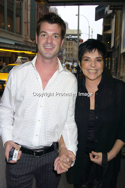 "Jason Drew and Liza Minnelli ..at The Broadway opening of ""Lennon"" on August 14, 2005 at the Broadhurst Theatre in New York City. ..Photo by Robin Platzer, Twin Images"