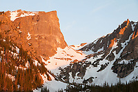 Hallett Peak at sunrise, Rocky Mountain National Park