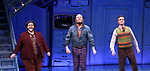 Randy Blair, Paul Whitty and Manoel Felciano during the Broadway Opening Night Performance Curtain Call for 'Amelie' at the Walter Kerr Theatre on April 3, 2017 in New York City