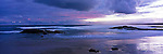 Australia Panorama - dusk at Stockton Beach in Anna Bay.  Port Stephens, New South Wales, Australia.<br />