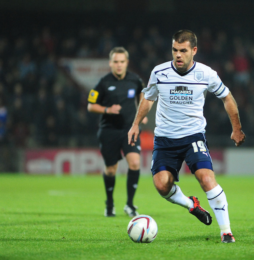 Preston North End's John Welsh ..Football - npower Football League Division One - Scunthorpe United v Preston North End - Tuesday 23rd October 2012 - Glanford Park - Scunthorpe..
