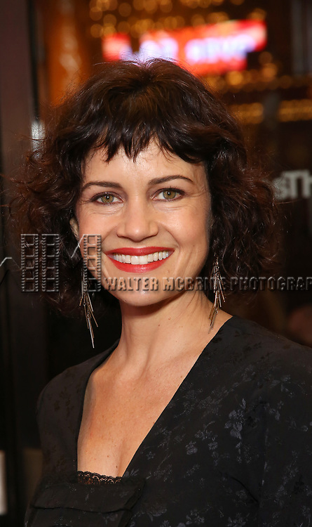 "Carla Gugino attends the Broadway Opening Night Performance of ""John Lithgow: Stories by Heart"" at the American Airlines Theatre on January 11, 2018 in New York City."