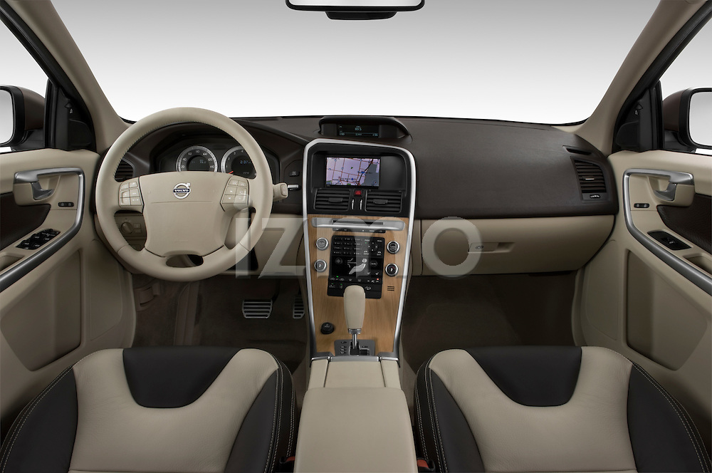Straight dashboard view of a 2009 Volvo XC 60