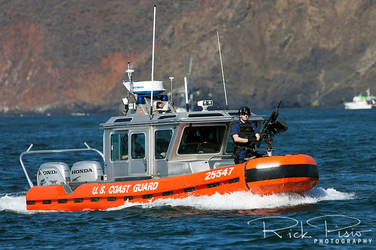 Defender Class Response Boat (RB-S). The RB-S was designed as a homeland security and law enforcement platform to conduct escorts, enforce security zones, and deliver boarding teams