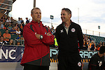 18 April 2015: Atlanta head coach Gary Smith (ENG) (left) with assistant coach Steve Guppy (ENG) (right). The Carolina RailHawks hosted the Atlanta Silverbacks at WakeMed Stadium in Cary, North Carolina in a North American Soccer League 2015 Spring Season match. Atlanta won the game 2-1.