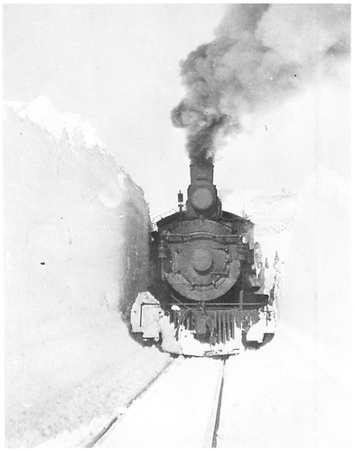 D&amp;RGW #450 in the snow.<br /> D&amp;RGW  Cumbres, CO