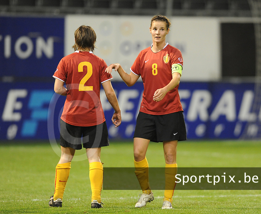 Belgium - Sweden : Femke Maes (rechts).foto DAVID CATRY / Vrouwenteam.be