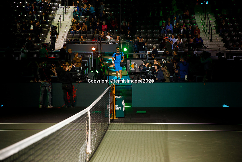 Rotterdam, The Netherlands, 11 Februari 2020, ABNAMRO World Tennis Tournament, Ahoy, <br /> Stefanos Tsitsipas (GRE), Huner Hurkacz (POL).<br /> Photo: www.tennisimages.com