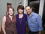 Caitlin Kinnunen, Beth Leavel and Matthew Sklar attends the Dramatists Guild Fund Salon with Matthew Sklar and Chad Beguelin at the home of Gretchen Cryer on December 8, 2016 in New York City.