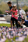 Paige McCarty, 6, participates in the 5th annual Veterans Suicide Awareness March, hosted by the Western Nevada College Veterans Resource Center, in Carson City, Nev., on Saturday, May 4, 2019. <br /> Photo by Cathleen Allison/Nevada Momentum