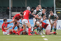 Mark Bright (Capt) of Ealing Trailfinders comes out with the ball during the Greene King IPA Championship match between Ealing Trailfinders and London Welsh RFC at Castle Bar , West Ealing , England  on 26 November 2016. Photo by David Horn / PRiME Media Images