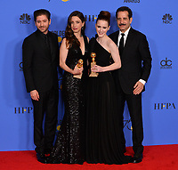 Michael Zegen, Marin Hinkle, Rachel Brosnahan & Tony Shalhoub at the 75th Annual Golden Globe Awards at the Beverly Hilton Hotel, Beverly Hills, USA 07 Jan. 2018<br /> Picture: Paul Smith/Featureflash/SilverHub 0208 004 5359 sales@silverhubmedia.com