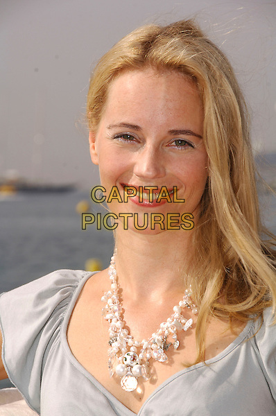 """SOFIA HELIN.Photocall on the Majestic Hotel Pier for """"Arn - Tempelriddaren"""" (Arn  - The Knight Templar) at the 60th International Cannes Film Festival, Cannes, France..May 22nd, 2007.headshot portrait necklace .CAP/PL.©Phil Loftus/Capital Pictures"""
