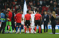 England's Wayne Rooney receives his award prior to kick-off<br /> <br /> Photographer Rob Newell/CameraSport<br /> <br /> The Wayne Rooney Foundation International - England v United States - Thursday 15th November 2018 - Wembley Stadium - London<br /> <br /> World Copyright © 2018 CameraSport. All rights reserved. 43 Linden Ave. Countesthorpe. Leicester. England. LE8 5PG - Tel: +44 (0) 116 277 4147 - admin@camerasport.com - www.camerasport.com