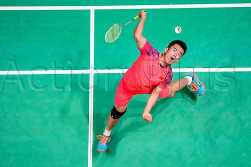 18th March 2018, Arena Birmingham, Birmingham, England; Yonex All England Open Badminton Championships; Zheng Siwei (CHN) and Huang Yaqiong (CHN) in the mixed doubles final against Yuta Watanabe (JPN) and Arisa Higashino (JPN)