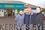 Sylwia Dabrowska, Pat Finnegan and Jerry Keane outside Moriarty's Centra Farranfore on Friday afternoon