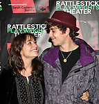 Karen Allen with her son, Nick Browneattending the Opening Night Performance of The Rattlestick Playwrights Theater Production of 'A Summer Day' at the Cherry Lane Theatre on 10/25/2012 in New York.