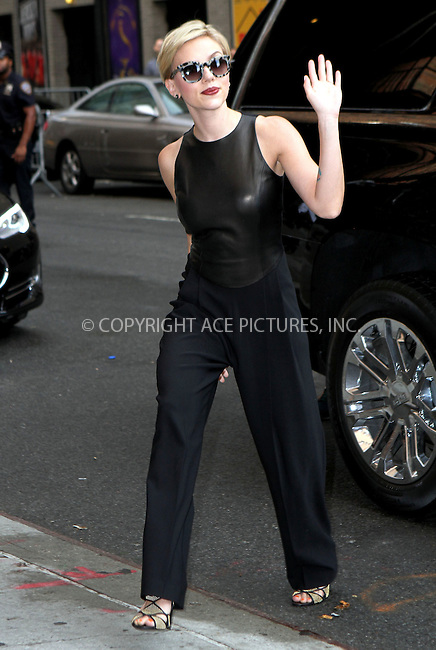 WWW.ACEPIXS.COM<br /> <br /> September 9 2015, New York City<br /> <br /> Actress Scarlett Johansson made an appearance at The Late Show with Stephen Colbert on September 9 2015 in New York City<br /> <br /> By Line: Nancy Rivera/ACE Pictures<br /> <br /> <br /> ACE Pictures, Inc.<br /> tel: 646 769 0430<br /> Email: info@acepixs.com<br /> www.acepixs.com
