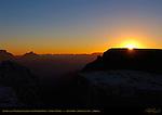 Sunrise over Walhalla Plateau from Mather Point, Vishnu Temple, South Rim, Grand Canyon, Arizona