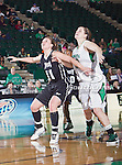 Troy Trojans guard Ieva Nagy (11) in action during the game between the Troy Trojans and the University of North Texas Mean Green at the North Texas Coliseum,the Super Pit, in Denton, Texas. UNT defeats Troy 57 to 36.....