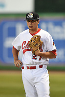 Peoria Chiefs pitcher Zach Loraine (27) in the bullpen during a game against the Kane County Cougars on June 2, 2014 at Dozer Park in Peoria, Illinois.  Peoria defeated Kane County 5-3.  (Mike Janes/Four Seam Images)