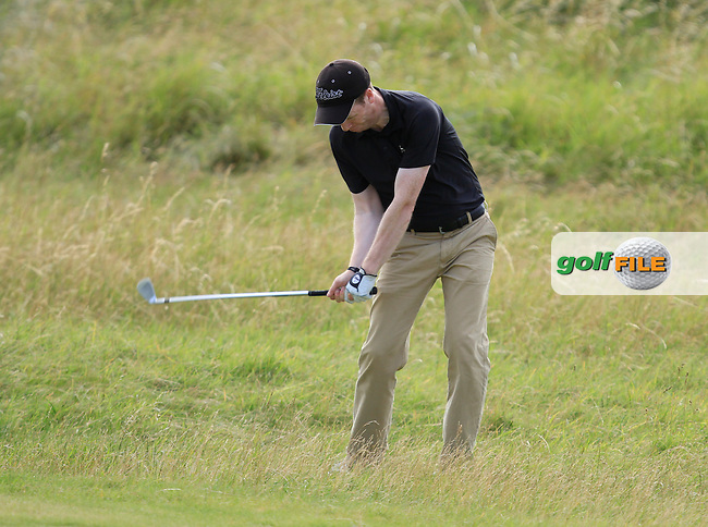 Gareth Bohill (Co. Louth) on the 12th during the South of Ireland Amateur Open Championship 4th Round at Lahinch Golf Club  29th July 2013 <br /> Picture:  Thos Caffrey / www.golffile.ie