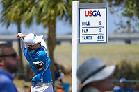 Eun-Hee Ji (KOR) watches her tee shot on 5 during round 1 of the 2019 US Women's Open, Charleston Country Club, Charleston, South Carolina,  USA. 5/30/2019.<br /> Picture: Golffile | Ken Murray<br /> <br /> All photo usage must carry mandatory copyright credit (© Golffile | Ken Murray)