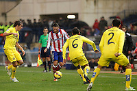 Koke of Atletico de Madrid and of Villarreal during La Liga match between Atletico de Madrid and Villarreal at Vicente Calderon stadium in Madrid, Spain. December 14, 2014. (ALTERPHOTOS/Caro Marin) /NortePhoto