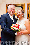 Mary Lynch,daughter of Noreen and the late Denis,Rathmore and Danial O'Leary,son of Eugie&Joan,Gneeveguilla who married last Saturday at 1pm at St Josephs church,Rathmore by Fr Pat O'Donnell.Bestman was Niall O'Leary,groomsmen were Eugene O'Leary&Willie Joe Murphy.1st Bridesmaid was Mary Cotter,others were Louise O'Connor&Marie Cronin.Flowergirl was Muireane Lynch.Pageboy was Michael Lynch.The reception was in the Ballyroe Hts hotel and they will reside in Gneeveguilla.