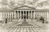 US Treasury Department Washington DC Architecture Black and White Photography Washington DC Art - - Framed Prints - Wall Murals - Metal Prints - Aluminum Prints - Canvas Prints - Fine Art Prints Washington DC Landmarks Monuments Architecture