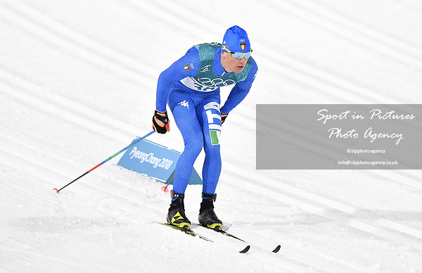 Stefan Zelger (ITA). Mens sprint classic qualification. Cross country skiing. Alpensia Croos-Country skiing centre. Pyeongchang2018 winter Olympics. Alpensia. Republic of Korea. 13/02/2018. ~ MANDATORY CREDIT Garry Bowden/SIPPA - NO UNAUTHORISED USE - +44 7837 394578