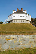 Fort McClary in Kittery, Maine USA during the winter months. This fort was named after Major Andrew McClary, an American officer, killed in the 1775 Battle of Bunker Hill.