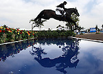 GUADALAJARA, MEXICO - OCTOBER 27: Luis Ignacio Barreiro of Ecuador during the Equestrian Show Jumping Competition on Day Thirteen of the XVI Pan American Games on October 27, 2011 in Guadalajara, Mexico.  (Photo by Donald Miralle for Mexsport) *** Local Caption ***