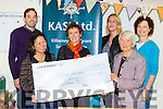 KASI presenting a cheque of €3,357.40 to Medecins Sana Frontiéres/Doctors with out borders in the offices on Monday l-r: John O'Shea, arilyn Catapat-Counihan, Joani Kelly, louise Gaughran, jean ritchie and Bernis Osterloh