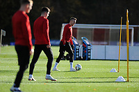 Chris Gunter of Wales in action during the Wales Training Session at The Vale Resort in Cardiff, Wales, UK. Monday 12 November 2018