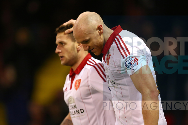 Sheffield United's Conor Sammon celebrates his goal with Billy Sharp - Sheffield United vs Bradford City - Skybet League One - Bramall Lane - Sheffield - 28/12/2015 Pic Philip Oldham/SportImage