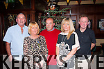 Organisers<br /> -------------<br /> Front,L-R Martina Ronan&Noelle Carey,back L-R Mikey Lenehan,Kerry O'Shae and John Bonner who met in the Castlebar,Tralee last Saturday night to organise the reunion of St Brendan's Pk residants which is on  Feb 13th 2015 next (venue to be decided).