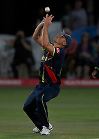 Marcus Stoinis drops a simple catch during the Vitality Blast T20 game between Kent Spitfires and Essex Eagles at the St Lawrence Ground, Canterbury, on Thu Aug 2, 2018