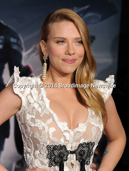Pictured: Scarlett Johansson<br /> Mandatory Credit &copy; Gilbert Flores/Broadimage<br /> Captain America: The Winter Soldier - Los Angeles Premiere<br /> <br /> 3/13/14, Hollywood, California, United States of America<br /> <br /> Broadimage Newswire<br /> Los Angeles 1+  (310) 301-1027<br /> New York      1+  (646) 827-9134<br /> sales@broadimage.com<br /> http://www.broadimage.com