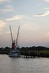 Shem Creek Mount Pleasant South Carolina Shrimp Boat Sunset