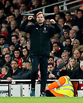Liverpool's Jurgen Klopp in action during the premier league match at the Emirates Stadium, London. Picture date 22nd December 2017. Picture credit should read: David Klein/Sportimage