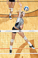 SAN ANTONIO, TX - NOVEMBER 4, 2016: The University of Texas at San Antonio Roadrunners defeat the Florida Atlantic University Owls 3-0 (25-15, 27-25, 25-7) at the UTSA Convocation Center. (Photo by Jeff Huehn)